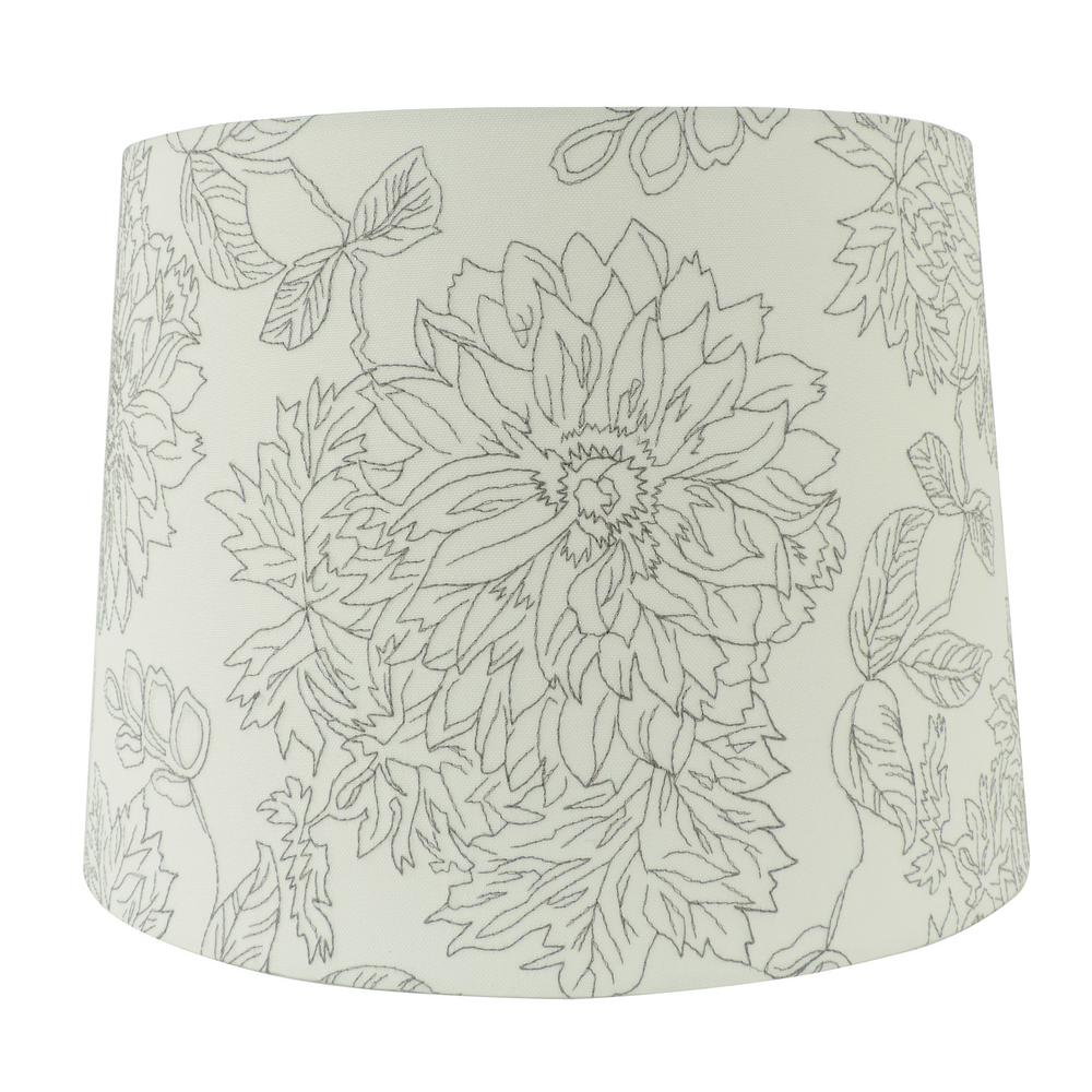 15 in w x 11 in h white embroidered hardback empire lamp shade 13 h white embroidered hardback empire lamp shade aloadofball Choice Image