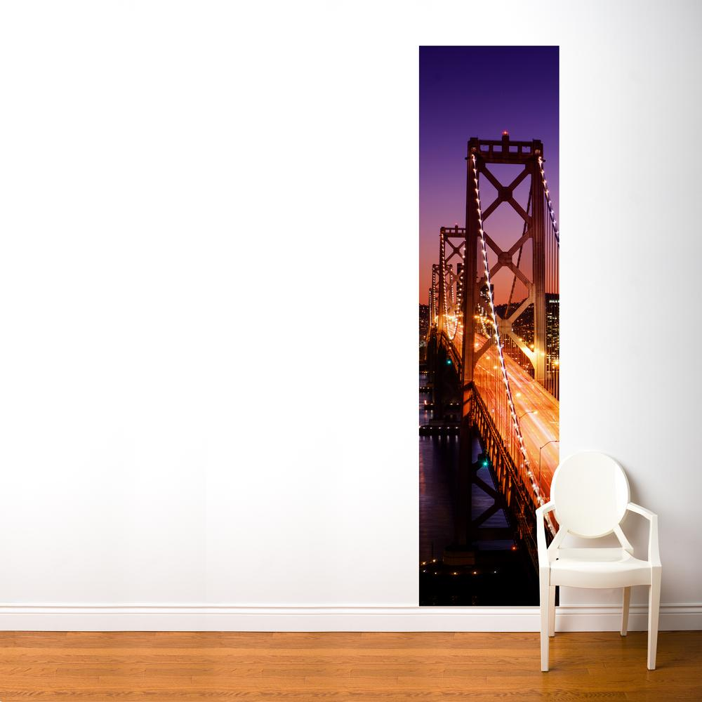 """24 in. x 96 in. Multi-Color """"San Francisco"""" Fresk Wall Decal"""