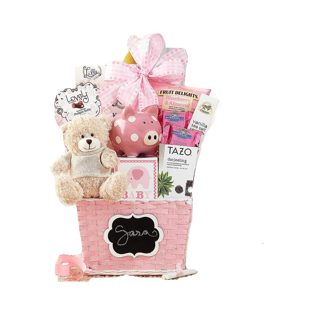 5b82b0ea5a431 Wine Country Gift Baskets Oh Baby Pink Baby Girl Gift Basket-998 ...