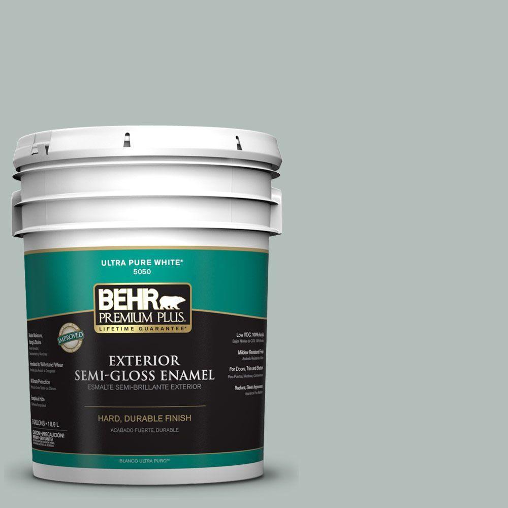 Home Decorators Collection 5-gal. #HDC-NT-25 Dew Semi-Gloss Enamel Exterior Paint