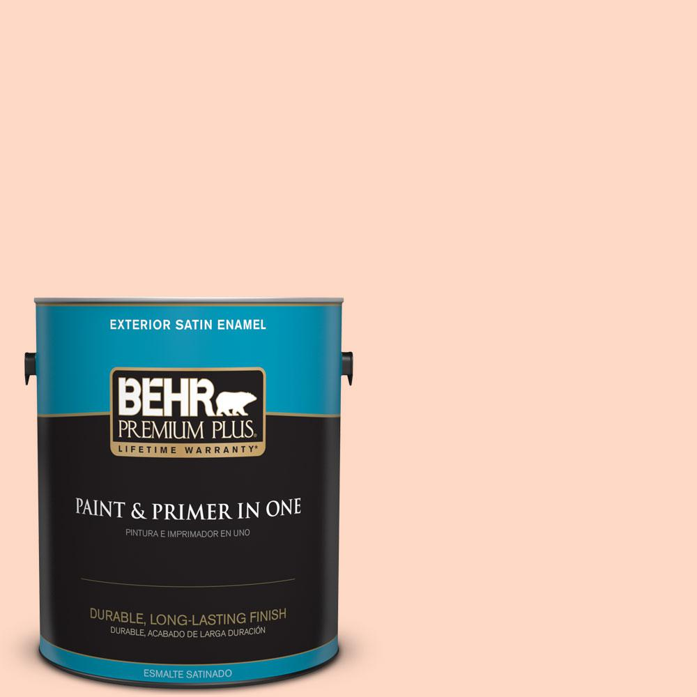 1-gal. #230C-2 Shell Coral Satin Enamel Exterior Paint