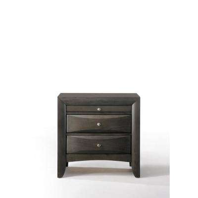 Ireland Gray Oak Nightstand