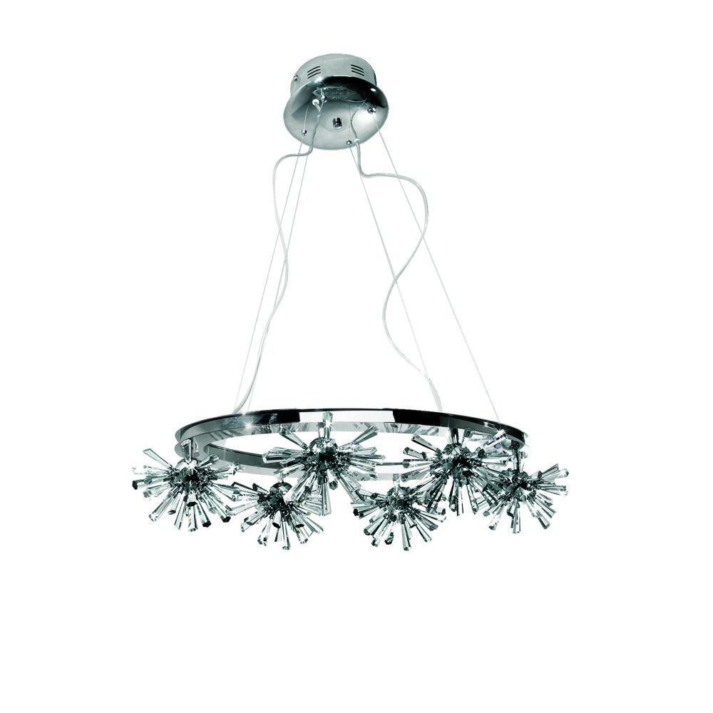Eurofase Lenka Collection 36-Light 77 in. Chrome Chandelier-DISCONTINUED