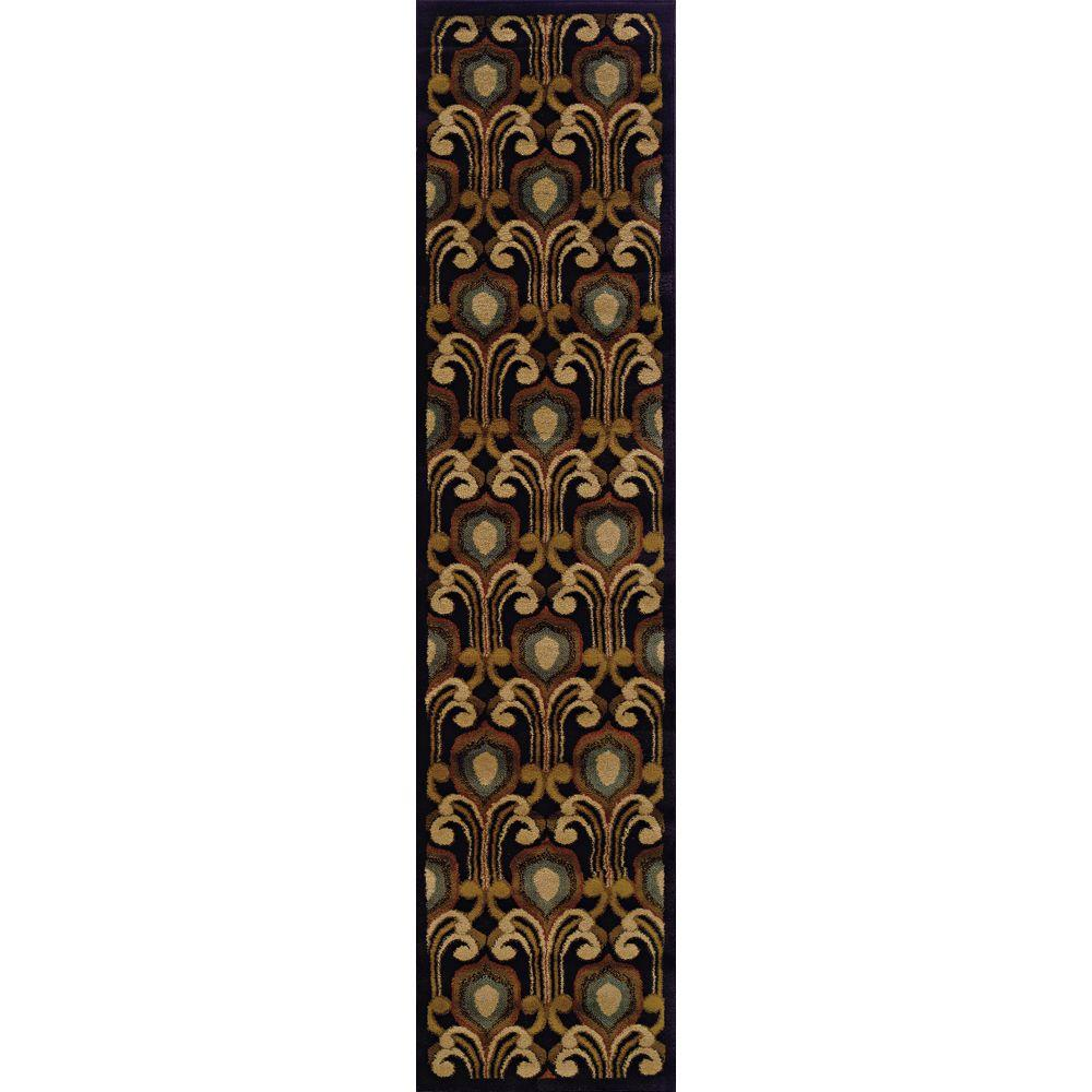 Oriental Weavers Delray Chatham Black 1 ft. 10 in. x 7 ft. 6 in. Runner-DISCONTINUED