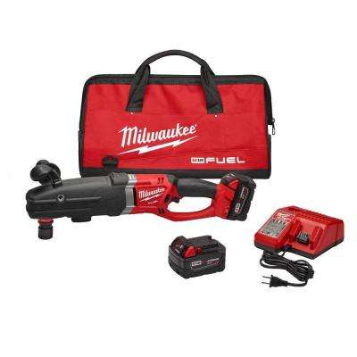 M18 FUEL 18-Volt Cordless Lithium-Ion Super Hawg 1/2 in. Right Angle Drill Kit with QUIK-LOK