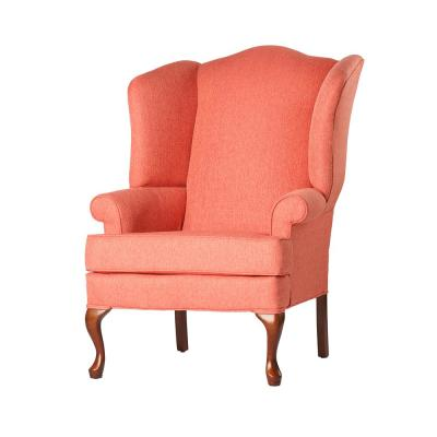 Pleasant Wood Pink Fabric Accent Chairs Chairs The Home Depot Evergreenethics Interior Chair Design Evergreenethicsorg