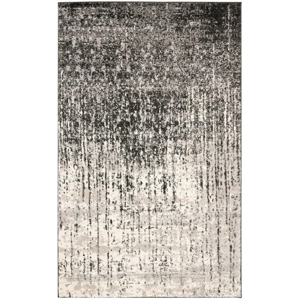 Safavieh Retro Black/Light Grey 2 ft. 6 in. x 4 ft. Area Rug