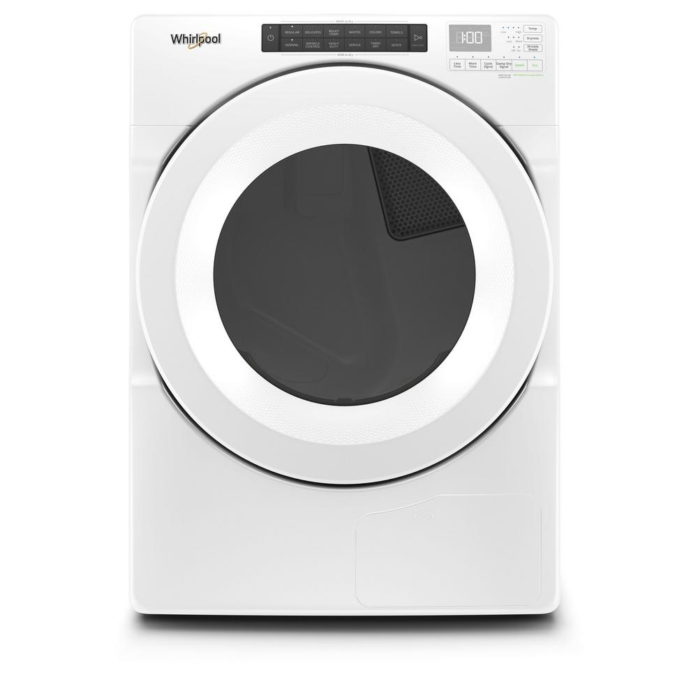 Whirlpool 7.4 cu. ft. 240 Volt Stackable White Electric Ventless Dryer with Intuitive Touch Controls, ENERGY STAR