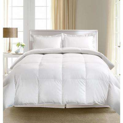 European White Goose Down King Comforter