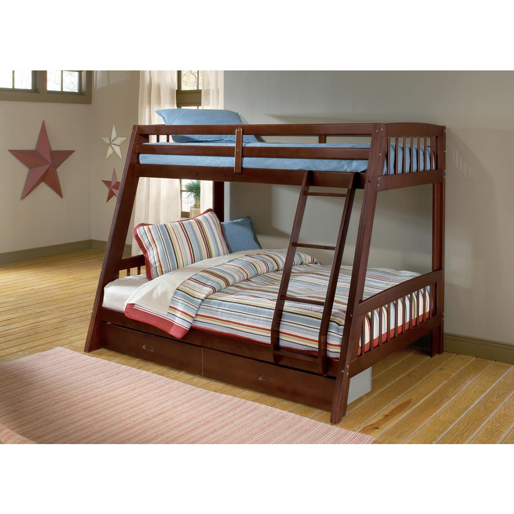 Hillsdale Furniture Rockdale Twin Over Full Kids Bunk Bed 1608bb The Home Depot