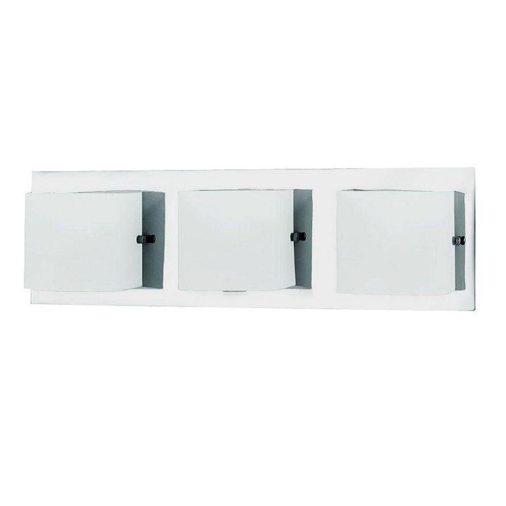 Talo Collection 3-Light Chrome Wall Bath Bar Light