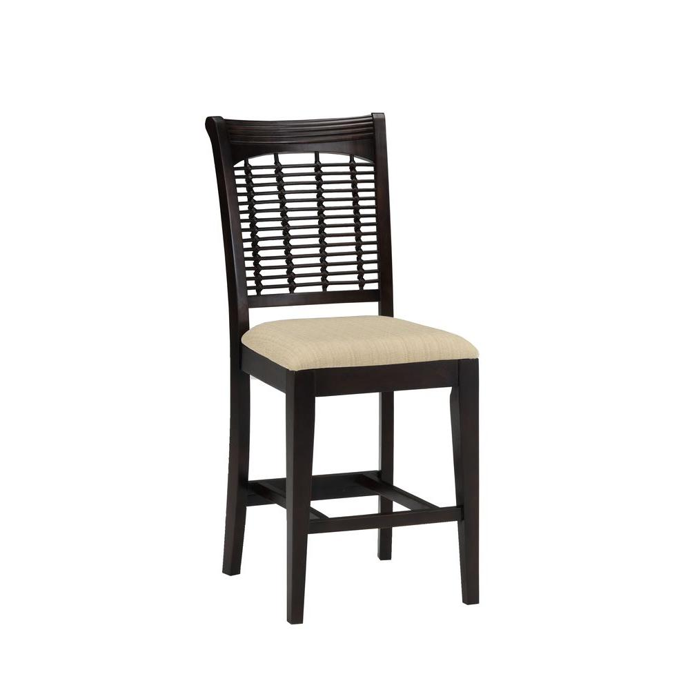 Hillsdale Furniture Bayberry Non-swivel Counter Stools - Set of 2 in Dark Cherry