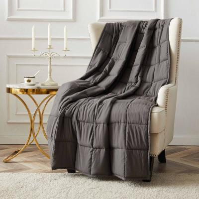 15 lbs. 48 in. x 72 in. Pearl Grey Microfiber Weighted Blanket
