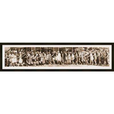"38 in. x 10 in. ""Bathing Beauty, 1918"" Framed Giclee Print Wall Art"