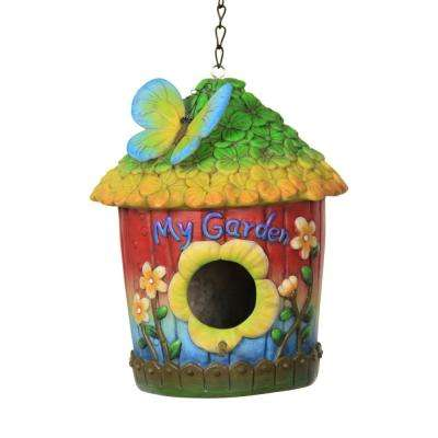 Green and Yellow Iris Bird House