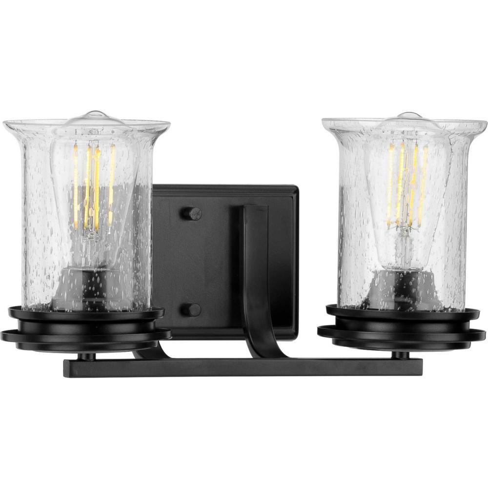 Winslett 2-Light Black Bath Light