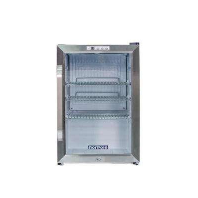 2.5 cu. ft. Countertop Merchandiser in Stainless Steel