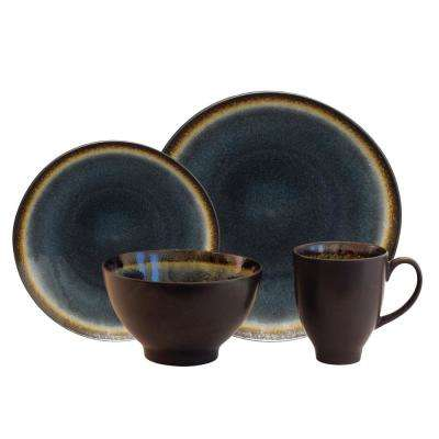 Galaxy Coupe 16-Piece Denim Dinnerware Set