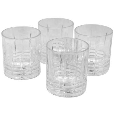 Jewelite 11 oz. Double Old-Fashioned Glass Set (4-Pack)