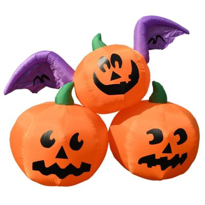 6 ft. Pre-Lit Winged Jack-O-Lantern Trio Halloween Inflatable