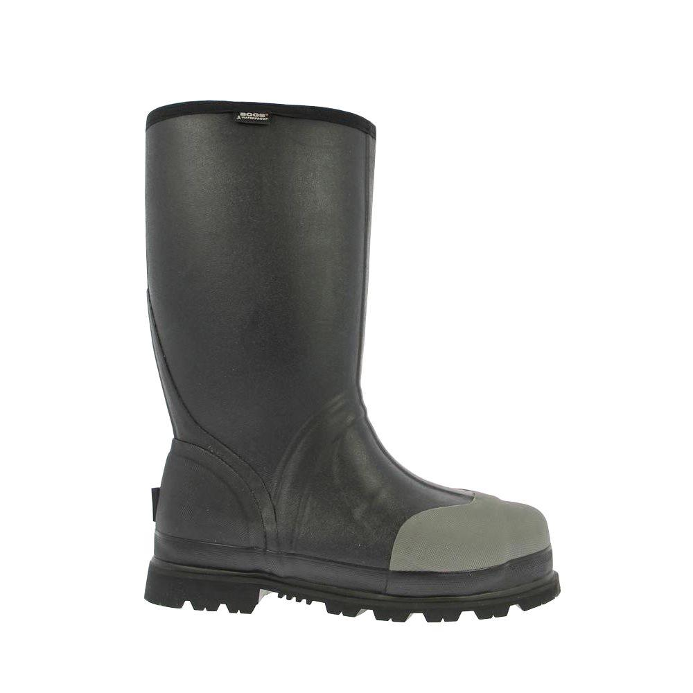 BOGS Forge Steel Toe Met Guard Men 16 in. Size 10 Black Waterproof Rubber Boot