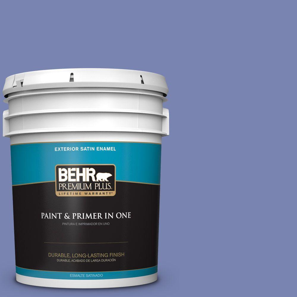 BEHR Premium Plus 5-gal. #610B-5 Corsican Purple Satin Enamel Exterior Paint