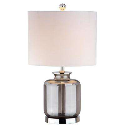 Marsh 22 in. Smoked Gray Glass Table Lamp