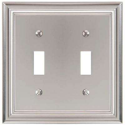 Continental 2 Toggle Wall Plate - Satin Nickel