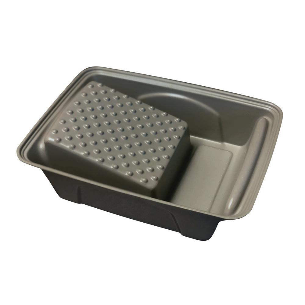 4 in. Plastic Gray Roller Tray