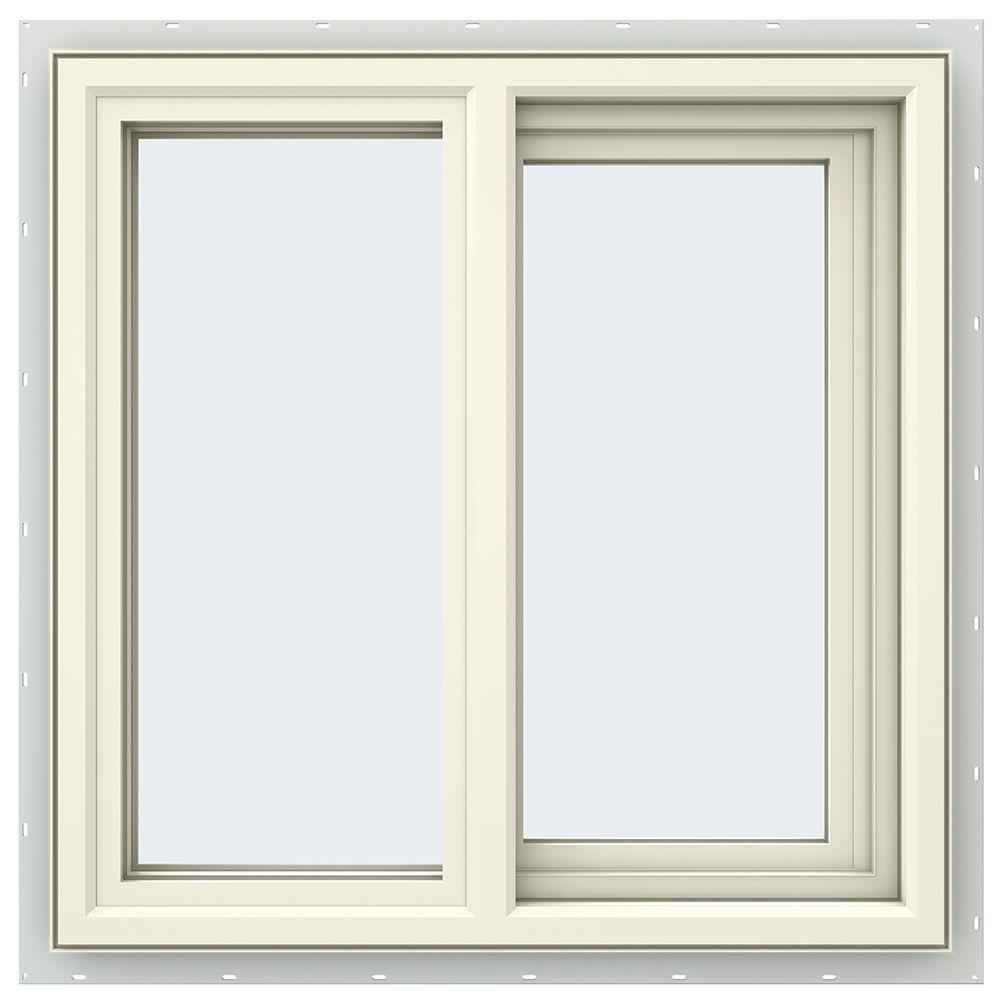 23.5 in. x 23.5 in. V-4500 Series Cream Painted Vinyl Right-Handed