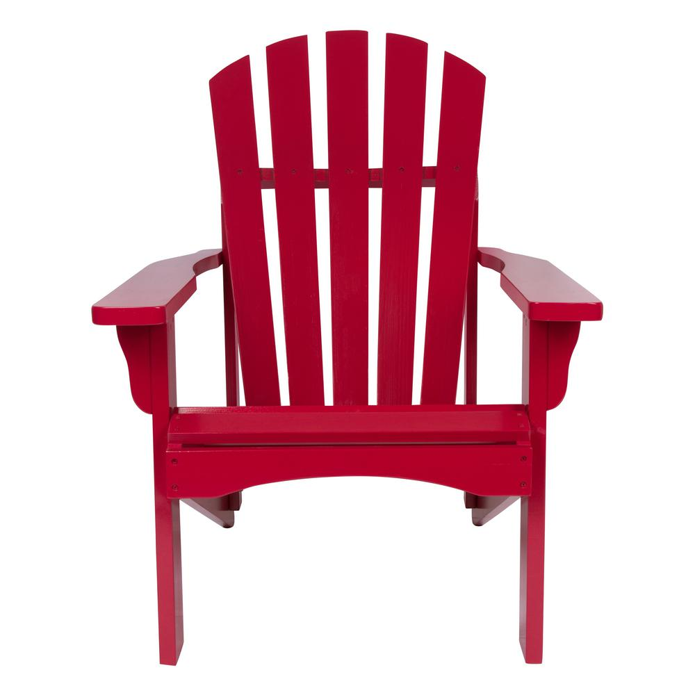 Rockport Cedar Wood Adirondack Chair - Chili Pepper