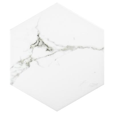 Timeless Calacatta Hex 8-5/8 in. x 9-7/8 in. Porcelain Floor and Wall Tile (11.56 sq. ft. / case)