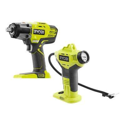 18-Volt ONE+ Cordless Combo Kit with 3-Speed 1/2 in. Impact Wrench and Power Inflator (Tools Only)