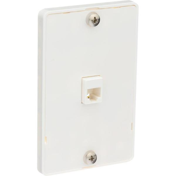 Universal Phone Wall Jack, White