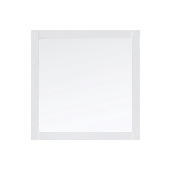 28.00 in. W x 28.00 in. H Framed Square  Bathroom Vanity Mirror in White