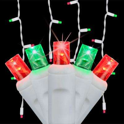 SoftTwinkle 6.5 ft. 70-Light LED Red and Green Icicle Light Set