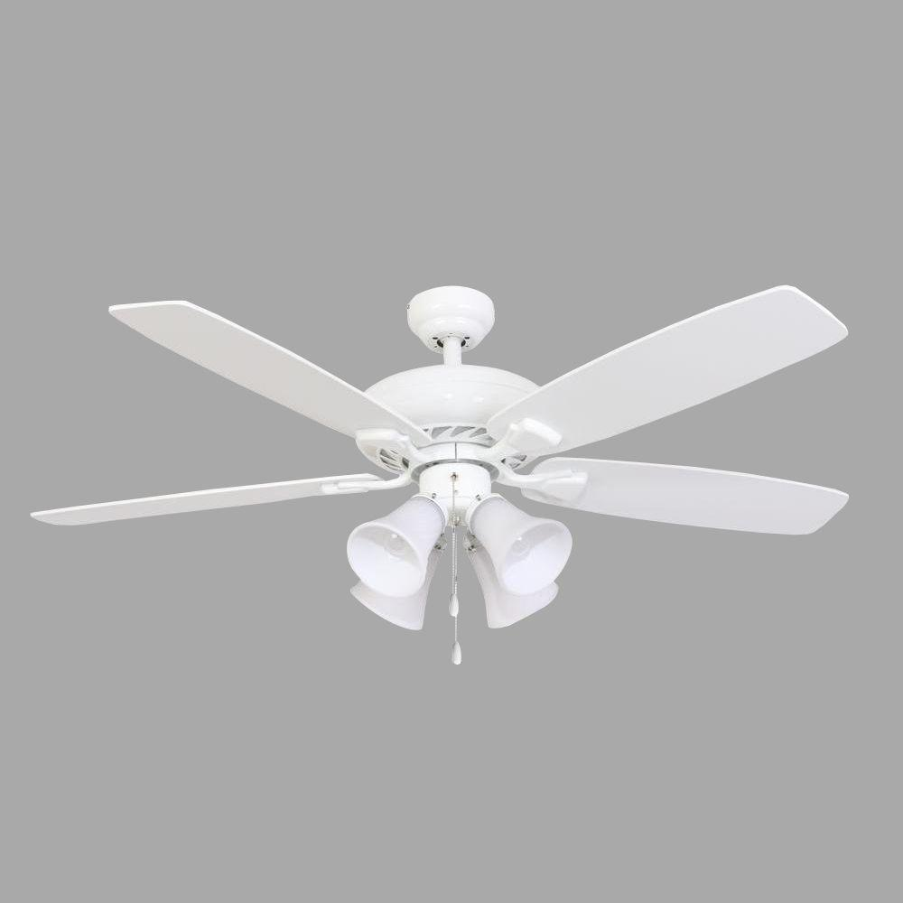 Sahara Fans Ardmore 52 in. White Ceiling Fan
