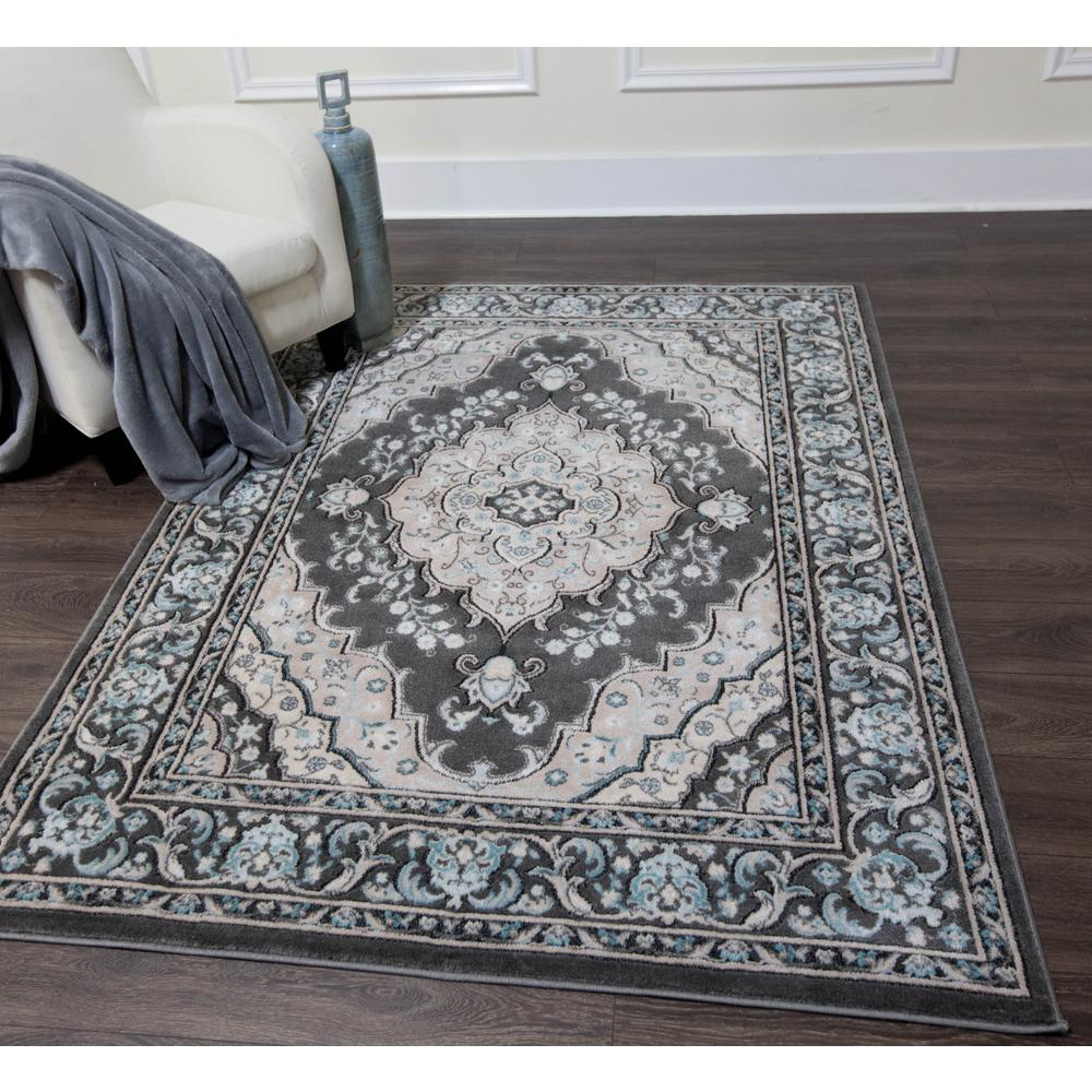 Home Dynamix Oxford Gray 8 Ft X 10 Ft Indoor Area Rug 1 6531 451