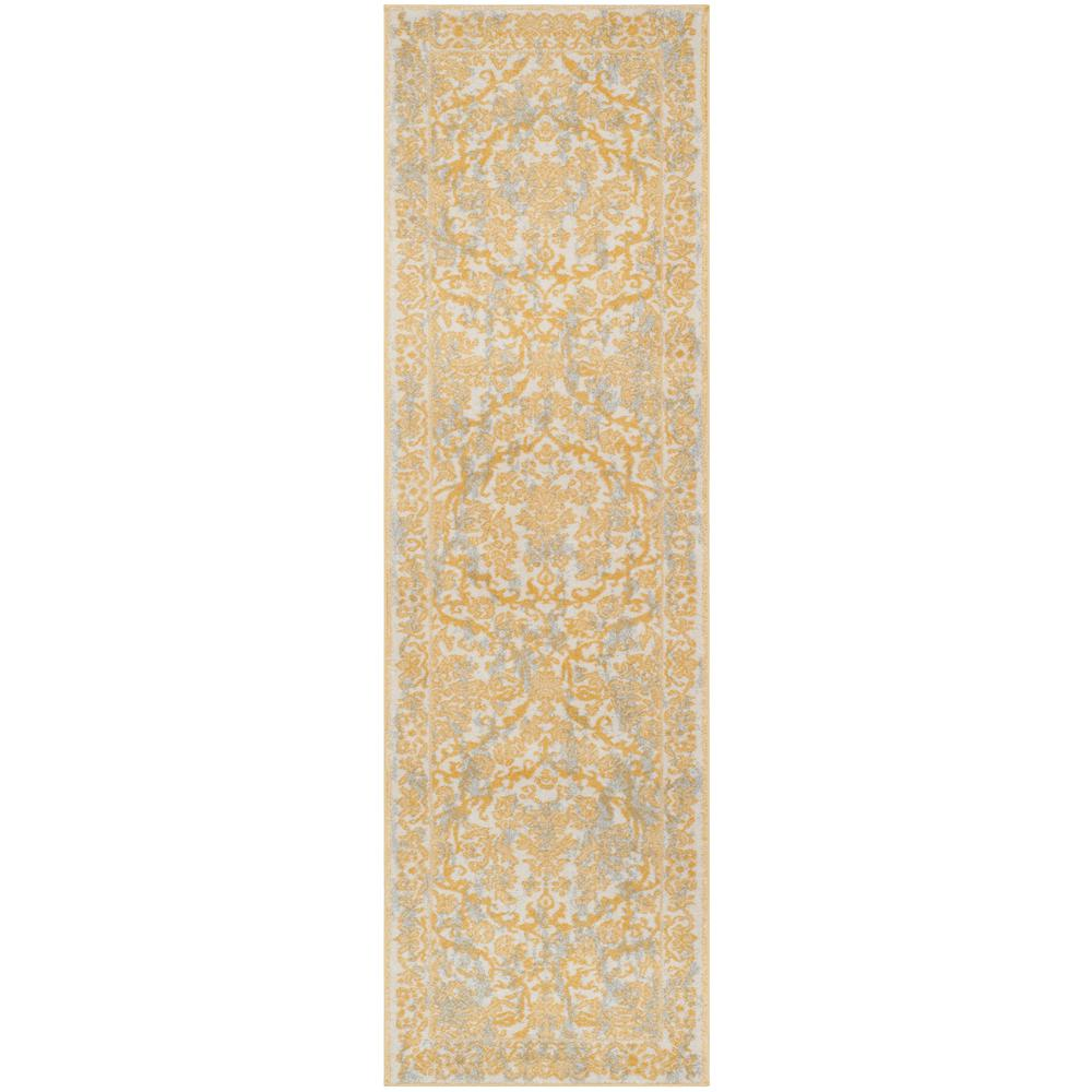 Safavieh Evoke Ivorygold 2 Ft X 7 Ft Runner Rug Evk242s 27 The