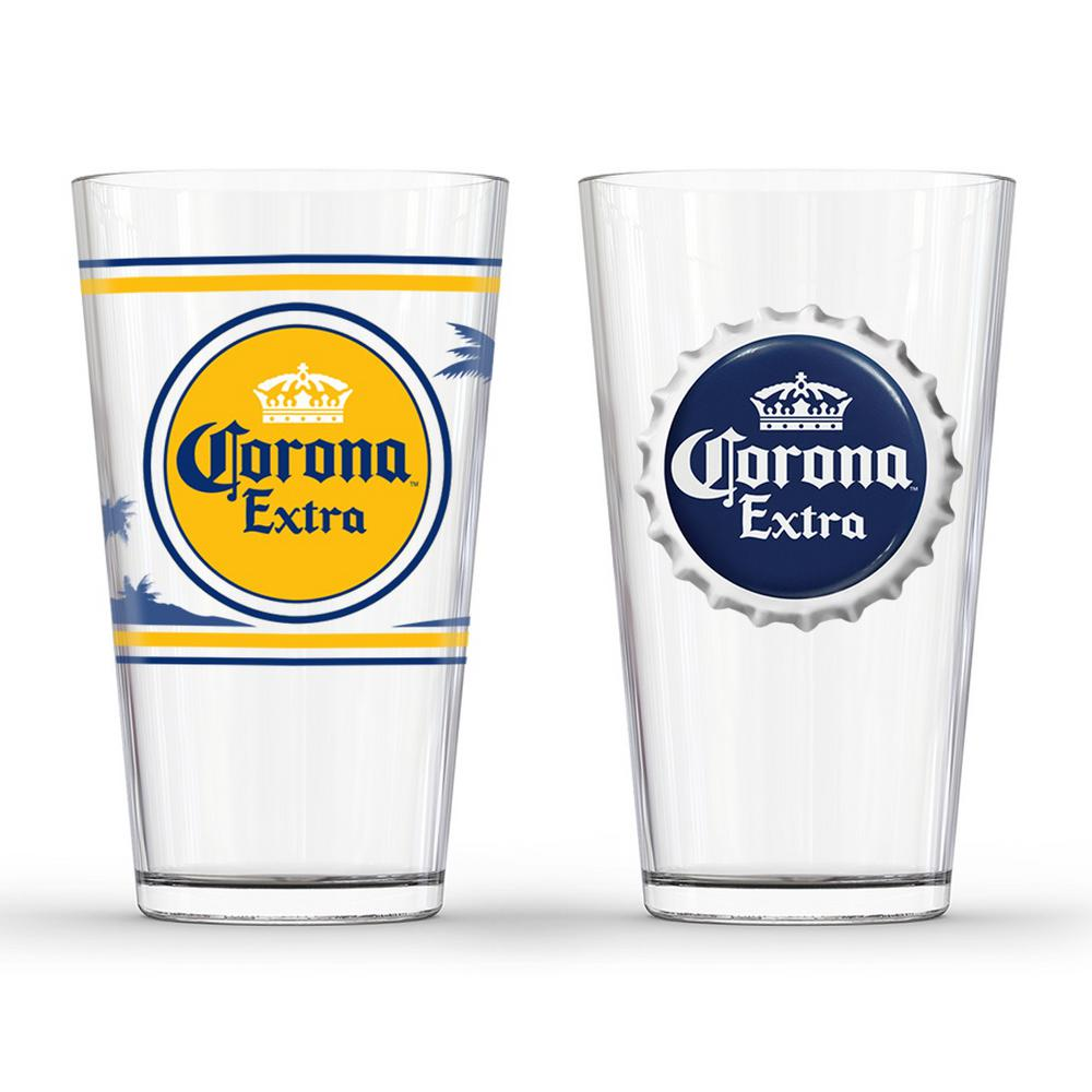 Corona extra labels pub glass set of 2 gd16042pb the for How to make corona glasses