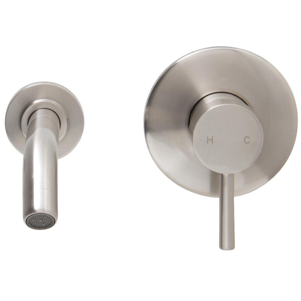 VIGO Single Hole Single Handle Wall Mount Vessel Bathroom Faucet In Brushed  Nickel