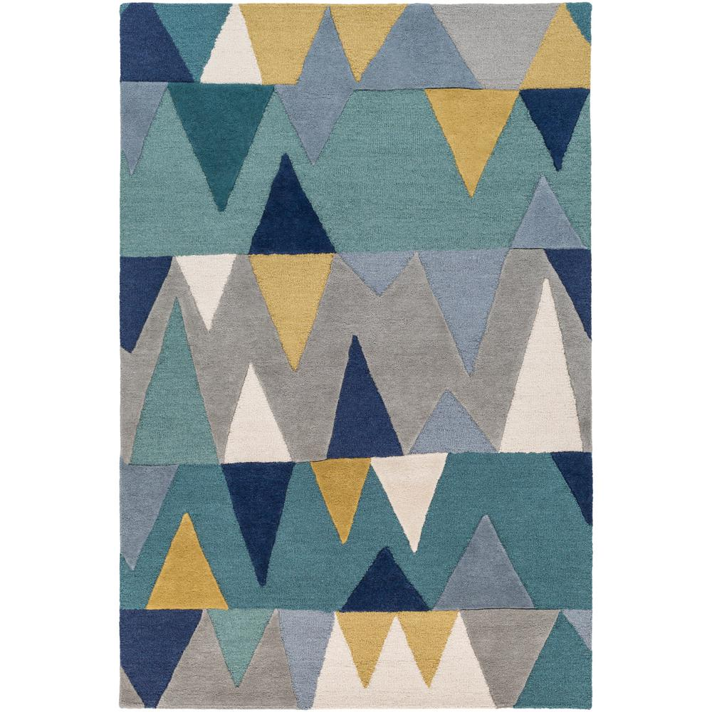 Artistic weavers alina bright blue 4 ft x 6 ft area rug for Bright blue area rug