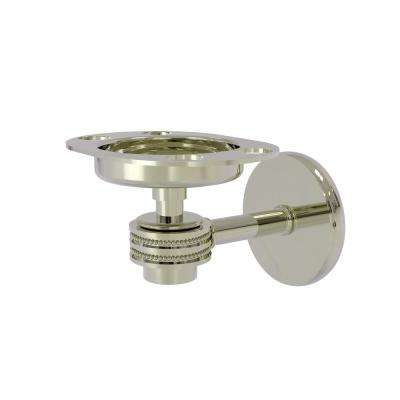 Satellite Orbit 1-Tumbler and Toothbrush Holder with Dotted Accents in Polished Nickel
