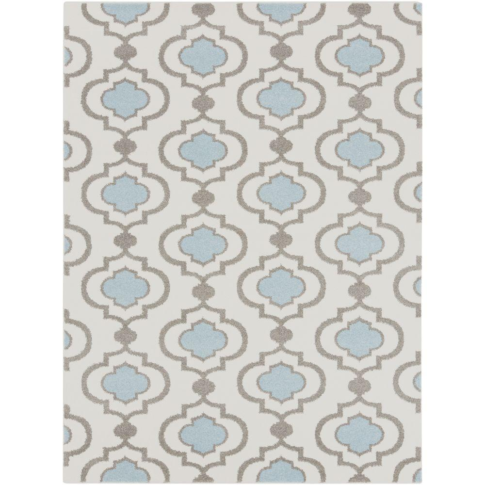 Habikino Ivory 5 ft. x 7 ft. Indoor Area Rug