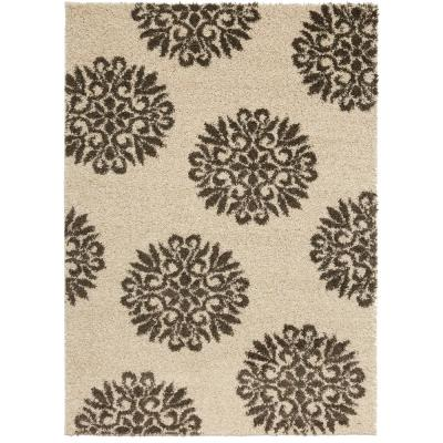 Mohawk Exploded Medallions Cocoa 10 ft. x 14 ft. Indoor Area Rug, Brown