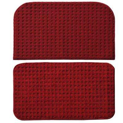 Herald Square Chili Red 2 ft. x 2 ft. 2-Piece Rug Set