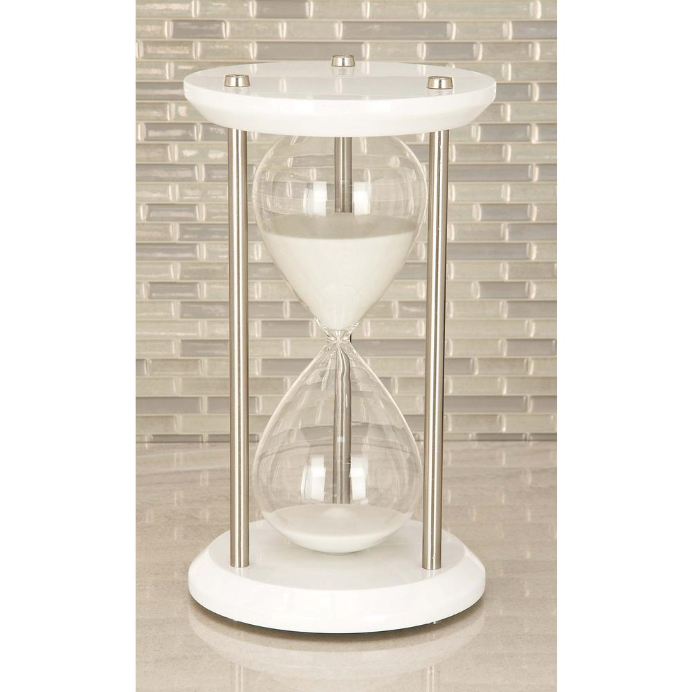 60-Minute Cuboid Glass 7 in. x 12 in. Sand Timer