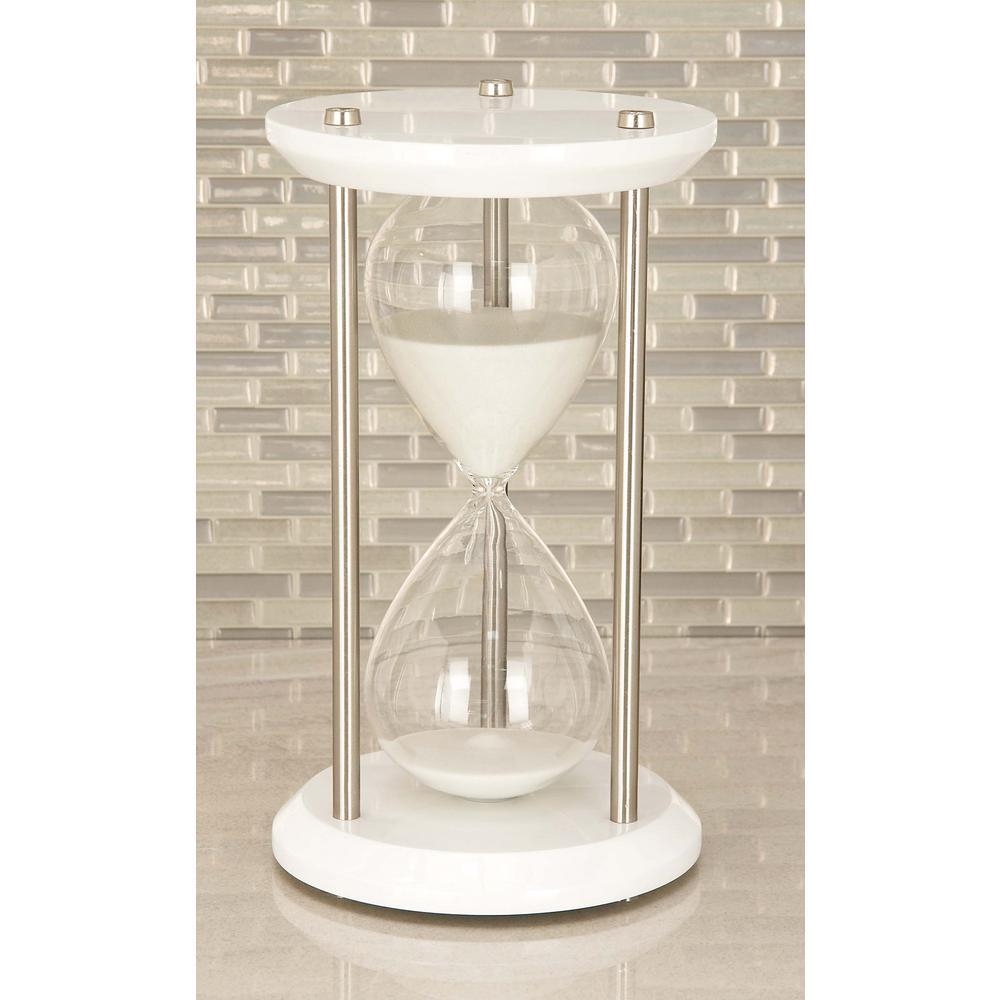 Litton Lane 60-Minute Cuboid Glass 7 in. x 12 in. Sand