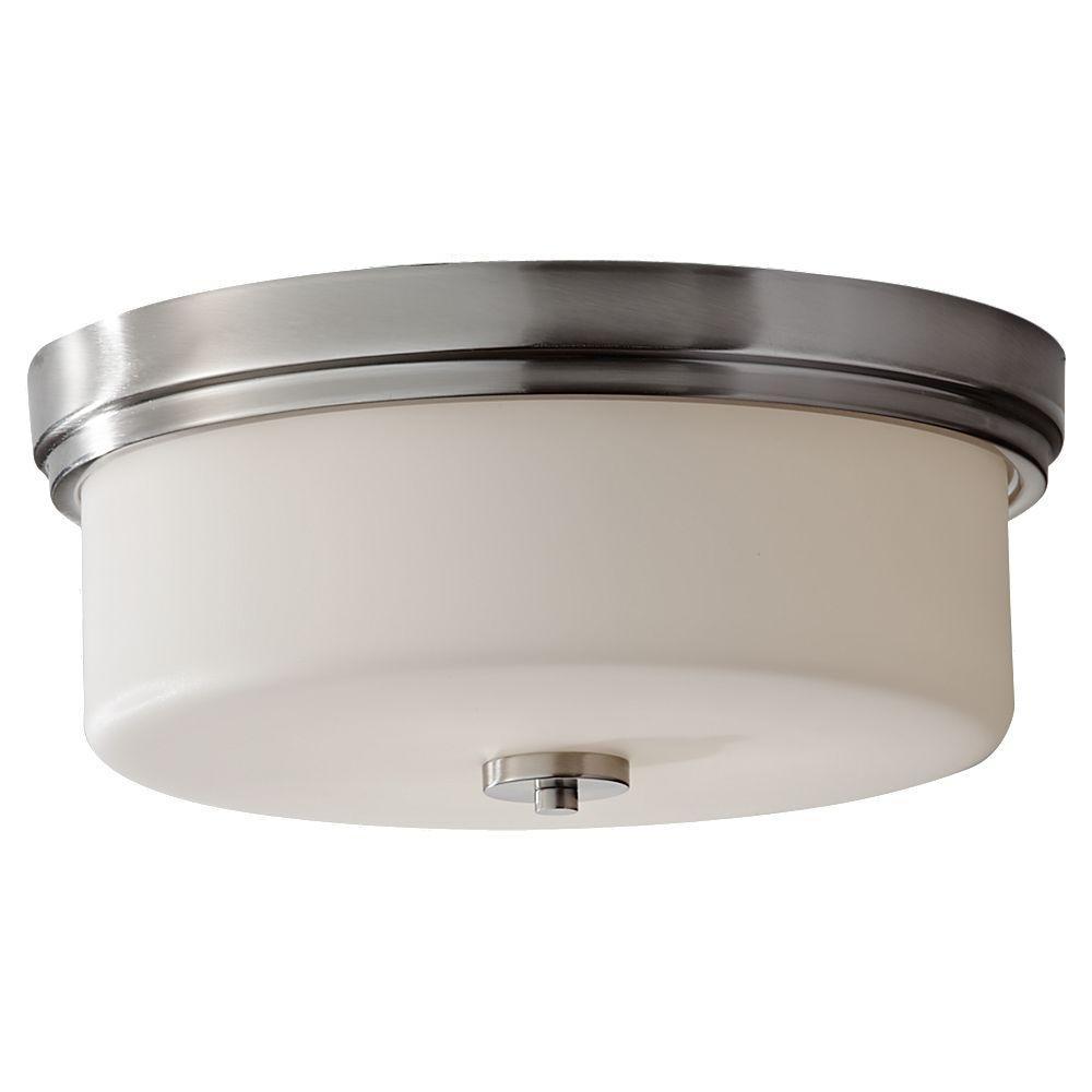 Kincaid 3-Light Brushed Steel Indoor Flushmount