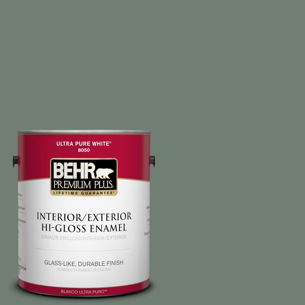 BEHR Premium Plus 1-gal. #N420-5 Boreal Hi-Gloss Enamel Interior/Exterior Paint